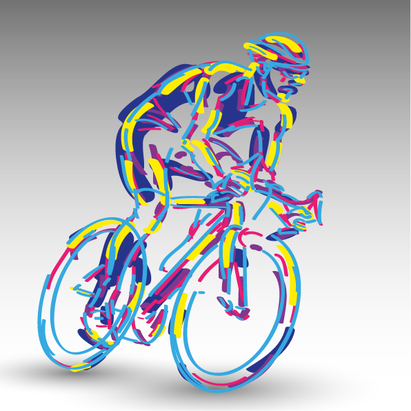 cyclist icon multicol