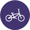 bike icon purple